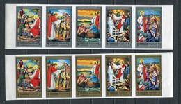 Sharjah 1971 Mi # 759 - 768 RELIGION JESUS CHRIST IMPERF MNH - Sharjah