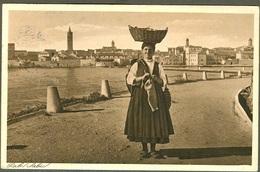 Old Postcard Paesant Women Etno Trachten Costume Rab Isola Arbe Carnaro Croatia - Croatia