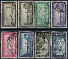 COLONIE ITALIANE LIBIA 1938 12° Fiera Di Tripoli Serie Completa Usata, 5c E 10c Nuovi TL - Libye