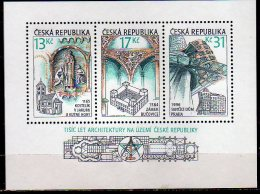 2001 Czech /Tschechien  - 1000 Years Of Czech Architecture - Churches, Castles And Dancing House -MS Paper  - MNH** MI B - Repubblica Ceca
