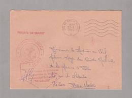 """LSC 1985 - Frégate """" DE GRASSE """"- Cachet Brest Naval - Marcofilia (sobres)"""