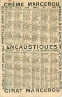 CHROMOS.CIRAGE MARCEROU.N°7753.CALENDRIER 1901 - Chromos