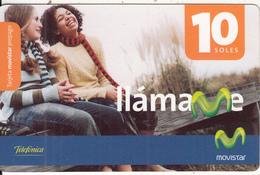 PERU - 2 Girls, Movistar By Telefonica Prepaid Card 10 Soles, Exp.date 31/12/08, Used - Peru