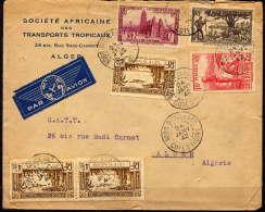 COTE D'IVOIRE - PLI PAR AVION - Côte-d'Ivoire (1892-1944)
