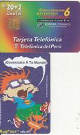 PERU - Nickelodeon/Rugrats 1(Carlitos), Telefonica Telecard, Tirage 25000, 09/97, Used - Peru