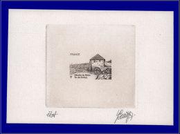 FRANCE Epreuves D'Artiste Yvert:4490, épreuve D'artiste En Noir, état Sans Faciale, Signée: Moulin à Marée De Bréhat     - Artist Proofs