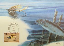 L) 1991 USA, FISHES, JOCK SCOTT, NATURE, FAUNA, MAXIMUM CARD, XF - Maximumkarten (MC)