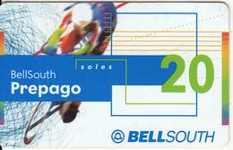 PERU - Cyclism, BellSouth Prepaid Card S/. 20, Exp.date 11/02, Used - Sport
