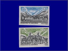 ANDORRE Non Dentelés Yvert:348/9, Europa 1986      - Qualité: XX . Cote: 92 - Stamps