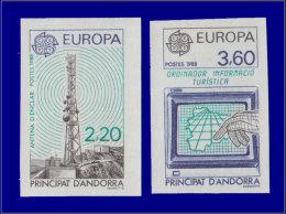 ANDORRE Non Dentelés Yvert:369/70, Europa 1988      - Qualité: XX . Cote: 85 - Stamps