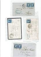 Lot De 4  Timbres 20c NAPOLEON III - 1853-1860 Napoléon III