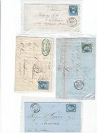 Lot  Bis De 4  Timbres 20c NAPOLEON III - 1853-1860 Napoléon III