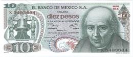 México 10 Pesos 18-2-1977 Pick 63.i.3 UNC - México