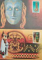 L) 1989 USA, ART, PRE-COLOMBIAN, SCULPTURES, 25C, PUAS, CULTURE, MASK, MAXIMUM CARD, XF - Maximum Cards