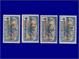 OUBANGUI Fiscaux Yvert:Bdv 1/2 + 4 + 7, 4 Valeurs: Panthère      - Qualité: X . Cote: 215 - Ubangui (1915-1936)