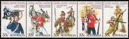 Australia 1985 Military Uniforms Strip Unmounted Mint. - 1980-89 Elizabeth II