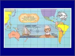 SAMOA Blocs Feuillets Yvert:6, Non Dentelé, (tirage 100): 100° An Upu, W Willis      - Qualité: XX . Cote: –– - Samoa