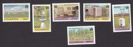 Uganda, Scott #1194-1199, Mint Hinged, Meteorological Day, Issued 1993 - Uganda (1962-...)