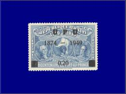 HAITI  Yvert:336, Surcharge Non émise Avec Tiret (1874 - 1949): 20c. Bleu 75° An Upu      - Qualité: X . Cote: –– - Haiti
