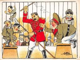 Militaire . 39/45.n° 46489. Lenine Hitler.caricature.cirque. Illustrateur Asti.14x10.5 Cm. - Guerre 1939-45