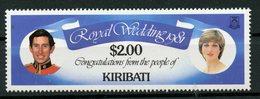 Kiribati 1981 $2.00  Royal Wedding Issue   #377 - Kiribati (1979-...)
