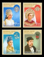 Russia 2009 Mih. 1588/91 Headdresses Of Central Russia MNH ** - Unused Stamps