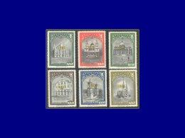 PANAMA Poste Aérienne Yvert:Michel 746/51 B, Surcharge 1964 En Olive, (normal = Orange): Concile Oecuménique. (1100 Dm). - Panama