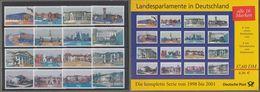 """Bund: Set Der Bundespost 2001, 16 Postfrische Ausgaben, Komplett: """" Landesparlamente In Deutschland """", !          X - Ongebruikt"""