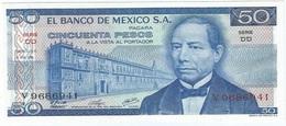 México 50 Pesos 8-7-1976 Pick 65.b DD UNC - México