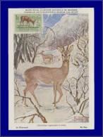 Hongrie, Carte Maximum, Yvert 143 PA, Chevreuil - Maximum Cards & Covers