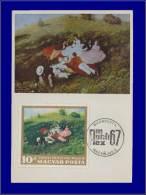 Hongrie, Carte Maximum, Yvert 62, Timbre Du Bloc, Peinture - Maximum Cards & Covers