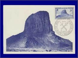Algérie, Carte Maximum, Rocher Du Hoggar - Algeria (1924-1962)