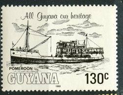 Guyana 1983 130c  River Steamers Issue  #664 - Guyana (1966-...)