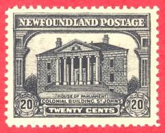 Canada Newfoundland # 157 Mint H VF - Colonial Building St Johns - Neufundland
