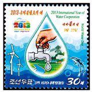 2013 North Korea 2013 International Year Of Water Cooperation Stamps - Korea, North