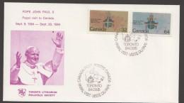 1984  Pope John Paul II Visit To Toronto - Toronto Lithuanian Philatelic Society Commemorative Cover - Cartas
