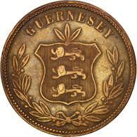 Monnaie, Guernsey, 8 Doubles, 1864, Heaton, Birmingham, TTB, Bronze, KM:7 - Guernesey