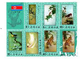 Korea Democratic People's Republic Scott 1518a 1976 Embroidery Sheetlet,mint Never Hinged - Korea, North