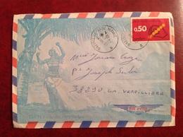 Bâtiment Base Maine Tahiti SP 91407 1972 - Storia Postale