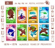 Korea Democratic People's Republic Scott 1657a 1974 100 Years Of Progress,Sheetlet,mint Never Hinged - Korea, North