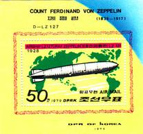 Korea Democratic People's Republic Scott 1789 1979 Airship Norge, Souvenir Sheet,mint Never Hinged - Korea, North