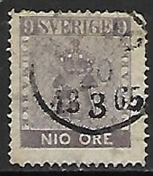 Sweden   1858  Sc#7  9ore   Used   2016 Scott Value $275 - Schweden