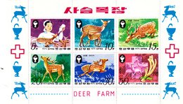 Korea Democratic People's Republic Scott 1863a 1979 Animals. Souvenir Sheet,mint Never Hinged - Korea, North