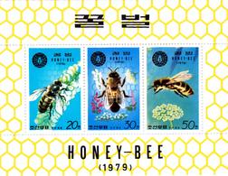 Korea Democratic People's Republic Scott 1900a 1979 Honey Bees, Souvenir Sheet,mint Never Hinged - Korea, North