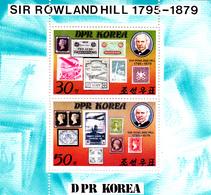 Korea Democratic People's Republic Scott 1924a 1979 Rowland Hill, Souvenir Sheet,mint Never Hinged - Korea, North