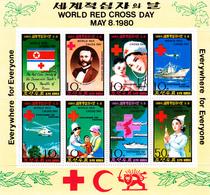 Korea Democratic People's Republic Scott 1931a 1980 Red Cross Day, Sheetlet,mint Never Hinged - Korea, North