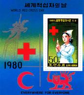 Korea Democratic People's Republic Scott 1932 1980 Red Cross Day, Souvenir Sheet,mint Never Hinged - Korea, North