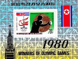 Korea Democratic People's Republic Scott 1998 1980 Moscow Olympic Games,souvenir Sheet,mint Never Hinged - Korea, South
