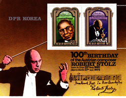 Korea Democratic People's Republic Scott 2012 1980 Robert Stoltz, Souvenir Sheet,mint Never Hinged - Korea, North