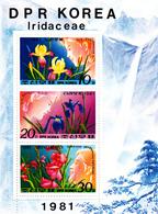 Korea Democratic People's Republic Scott 2076a 1981 Flowers Sheetlet,mint Never Hinged - Korea, North